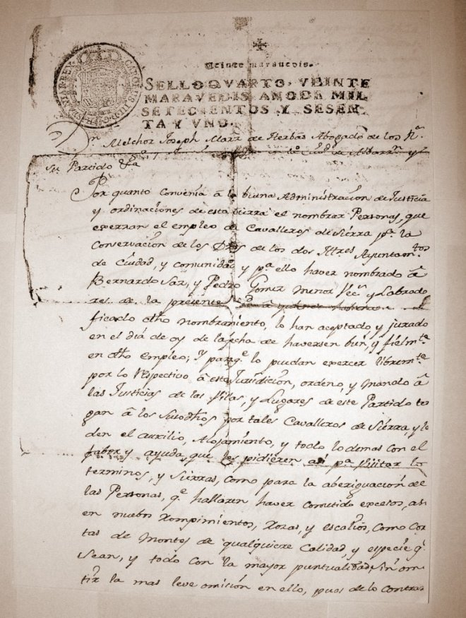 Apellido Saz (Documento 1)