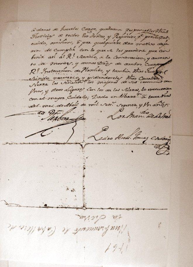 Apellido Saz (documento 2)