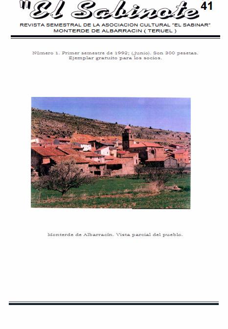 Descargat un pdf. de la revista El Sabinote #1→