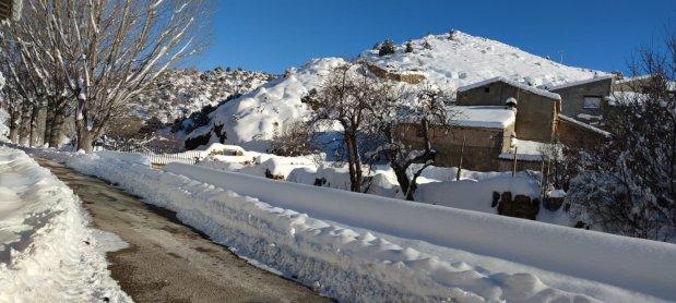 Los efectos de la borrasca Filomena en Monterde de Albarracín (Enero de2021)